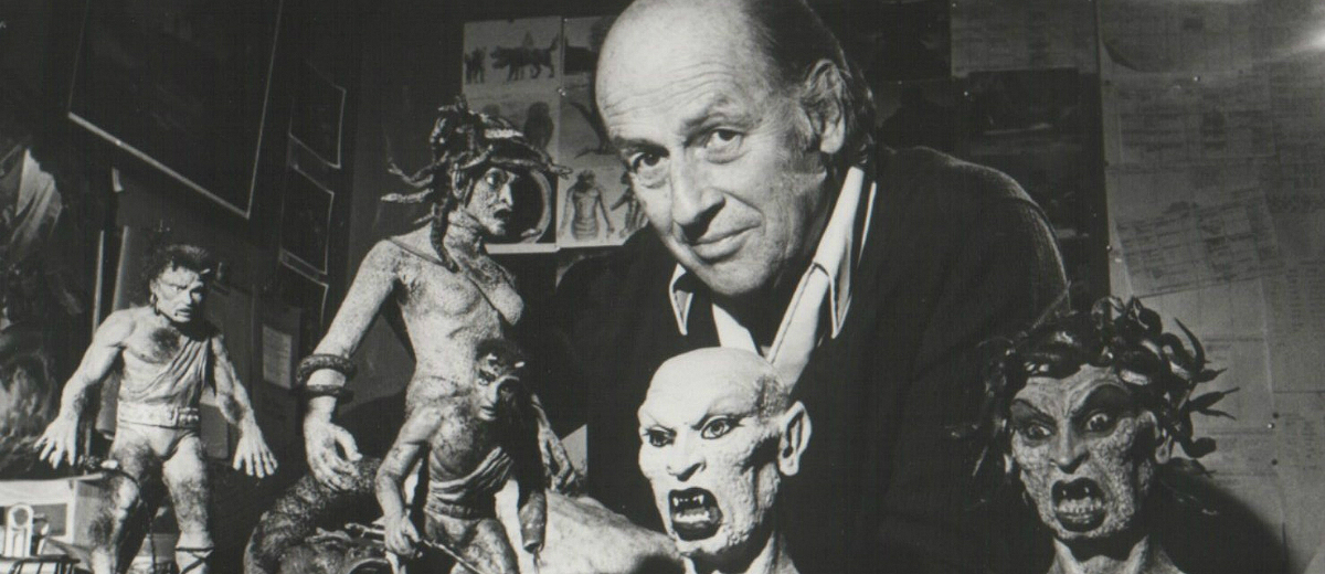 Ray Harryhausen and miniatures from Clash of the Titans (1981)