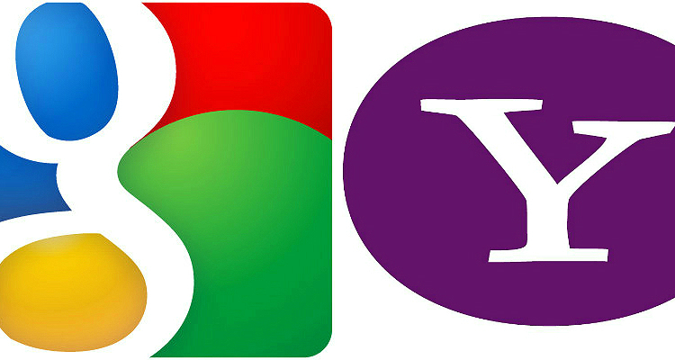 Google and Yahoo logos