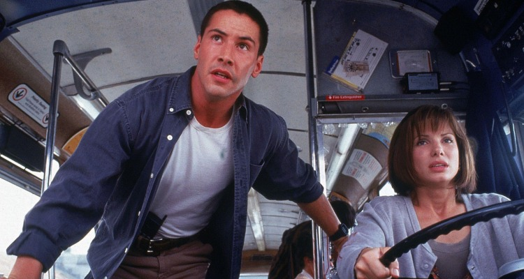 Keanu Reeves and Sandra Bullock in Speed (1994). Courtesy of: 20th Century Fox.
