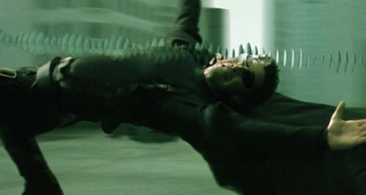 Bullet-dodging in the Wachowski's 90s classic The Matrix. Courtesy of: Warner Bros.