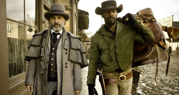 Jamie Foxx and Christoph Waltz in Django Unchained (2012). Courtesy of: Sony.