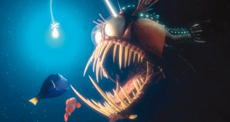 Marlin and Dory in Finding Nemo (2003). Courtesy of: Disney.