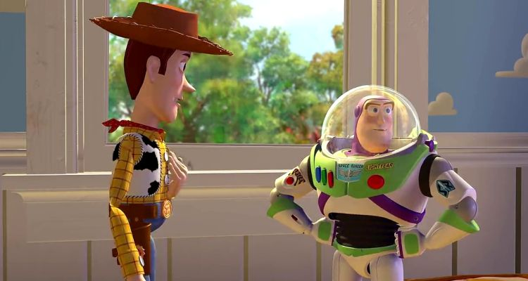 Woody and Buzz in Toy Story (1995). Courtesy of: Disney.