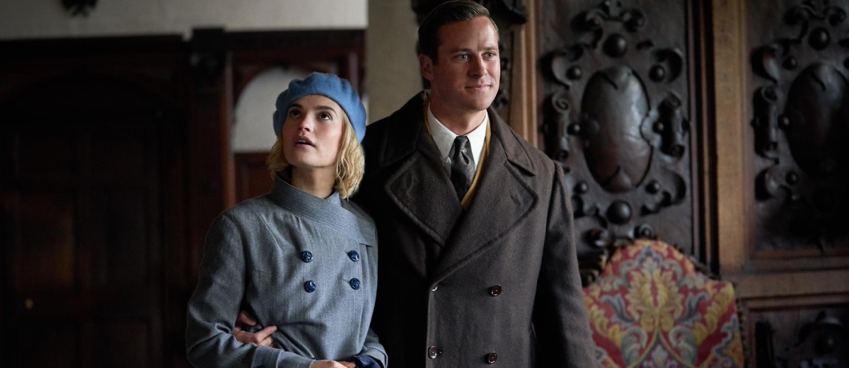 Lily James and Armie Hammer