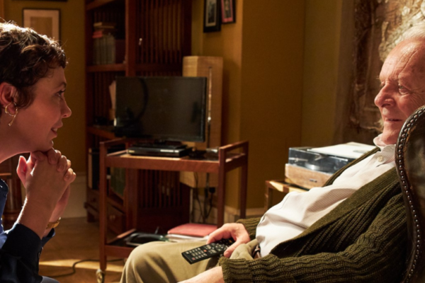 A shot of Olivia Colman and Anthony Hopkins in The Father